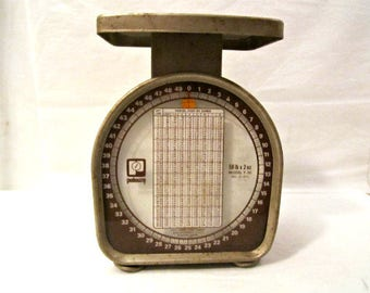Postal Scale, 50 lb. Scale by Pelouze,Vintage Kitchen/Postal Scale