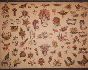 Vintage Tattoo Flash from 1941- Milton Zeis