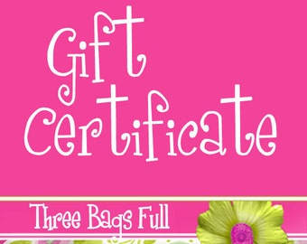 Project Bag Gift Certificate