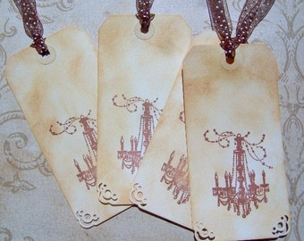 Chandelier Vintage Themed Gift Tags - Set of 4