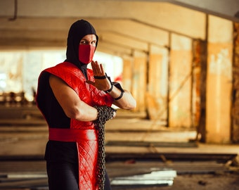Ermac ninja cosplay costume from Mortal kombat video game, Halloween costume, MK assassin outfit