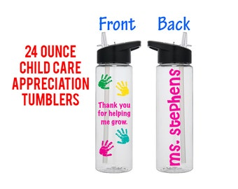 Personalized Teacher Tumbler - Teacher Appreciation Gift - Teachers Aide Gift - Teacher Gift - Daycare Teacher Gift - Back to School Gifts