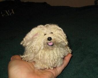 Needle Felted Dog/ Custom Miniature Sculpture of your pet / Rare Breed Puli / Komondor / poseable by Fiber Artist GERRY