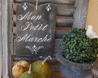 """My little market"" slate sign"