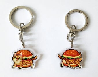 Cat Burger Keychain
