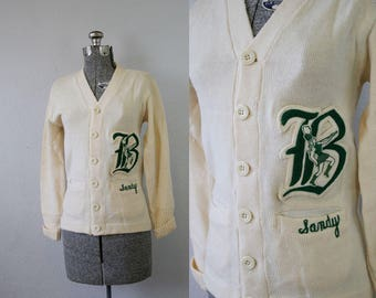 1950's Sandy Letterman Sweater / Size Small