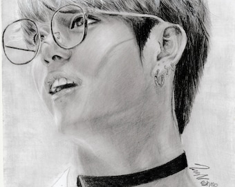 Jungkook graphite drawing