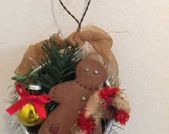 Gingerbread man jello mold Christmas ornament