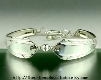 Silver Spoon Bracelet LYNNWOOD/MEMORY Jewelry Vintage, Silverware, Gift, Anniversary, Wedding, Birthday