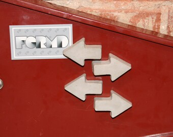 Concrete Arrow Magnets - Set of 4