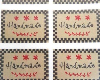 Handmade Stickers - Harvest Style - 20 Peel Off Stickers