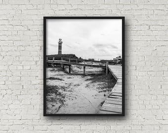 Buenos Aires Beach Print Digital Download / Fine Art Print/ Wall Art / Home Decor / Black and White Photograph/ Travel Photography
