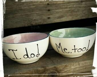 Custom personalized single bowl kiln fired pottery tableware custom pottery custom ice cream bowl custom cereal bowl pasta bowl wedding bowl
