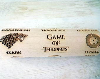 GAMES Of THRONES Embossing Rolling Pin. Laser engraved rolling pin with Game of Thrones pattern