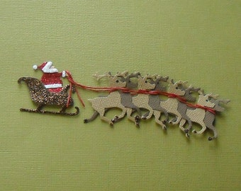 Santa and Reindeers-1 per pack