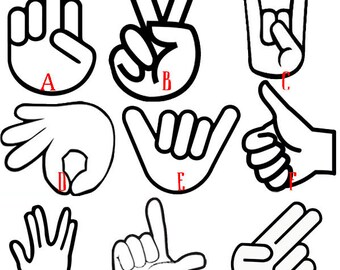 Hand Gesture Decal