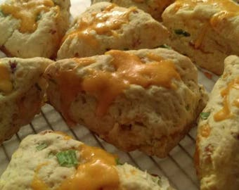 Savory bacon, cheddar and green onion Scone