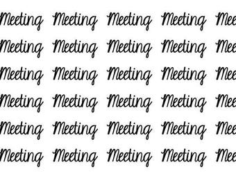 Meeting Wordy Icons WI0050