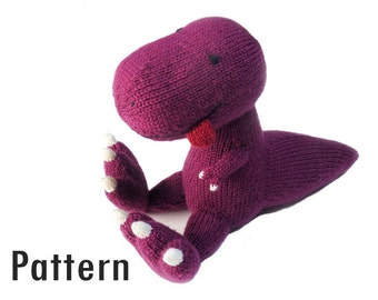 Knitting Pattern - Hektor, le Tyrannosaure - PDF