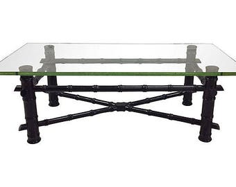 Lacquered Faux Bamboo Coffee Table/Bench--CUSTOMIZABLE