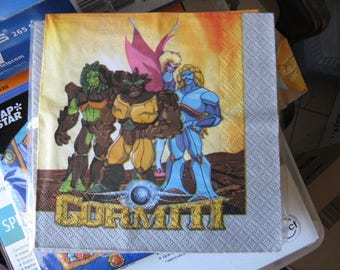 set of 2 napkins gormiti