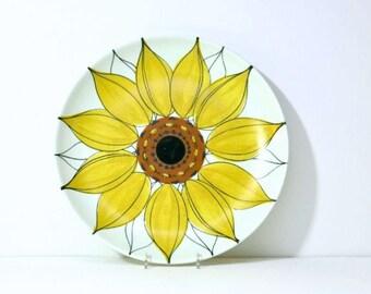 MidCentury Sun Rose von Arabien von Finnland 12 1/2 Zoll XL Platter Sonnenblume Platte