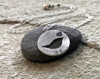 Silver Birdie Necklace Charm, Birdie Necklace Charm Silver, Silver Necklace, Charm Necklace