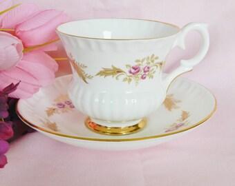 Crown Staffordshire Teacup, Crown Staffordshire Tea cup, 1950s Teacup, English Bone China Teacup, no2