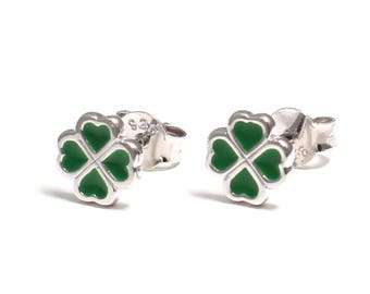 Four-leaf clover earrings 925 sterling silver