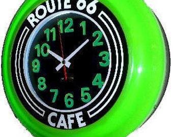 Route 66 Art-deco Wall Clock