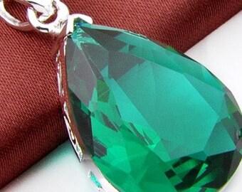 Emerald Silver 925 Pendant