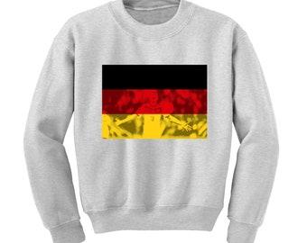 Russia World Cup 2018 Graphic Sweatshirt GERMANY Flag Football Team Soccer