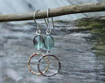 999 Fine Silver and Flourite Earrings