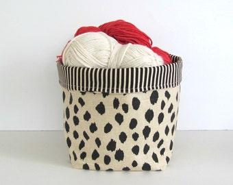 Yarn bowl, Planter Housewarming Gift, Yarn Storage Basket, Craft Organizer, Storage bin Bathroom organizer, Fabric Basket