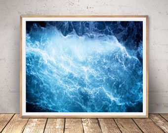 Ocean wave print, ocean photography, surf wave photo, nautical art print, sea photography,tropical print, surfing print, instant download