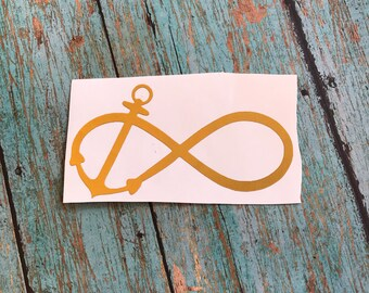 Infinity With Anchor Decal