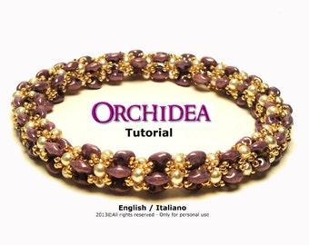 Tutorial Orchidea Bracelet - beading pattern