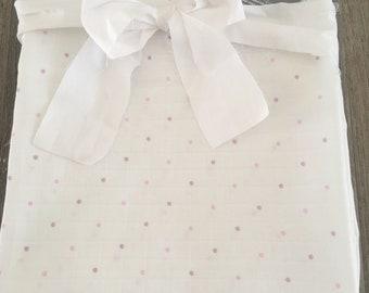 Swaddle Blanket~ Wrap Blanket~ Baby Blanket~ Muslin Swaddle Blanket~ Newborn Wrap