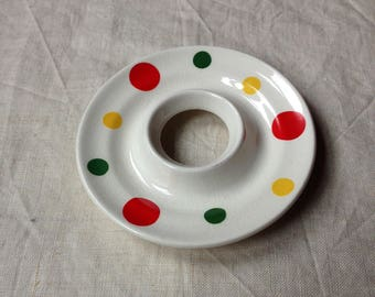 Vintage Spotty Egg Cup - Fifties Eggcup - Eggcup and Saucer - Eggcup Collectible