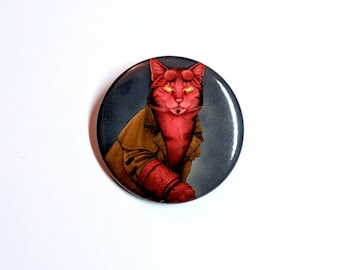"Hellkitty 1.5"" pinback button"