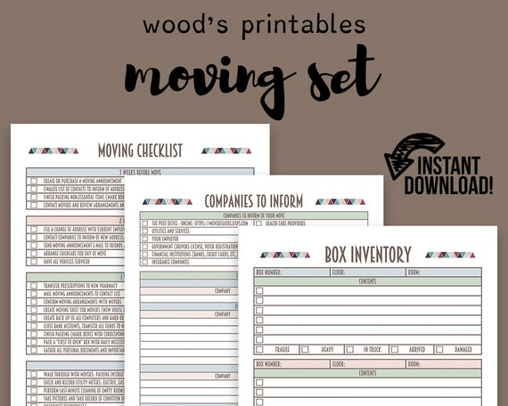 moving planner set moving checklist moving away new home planner kit planner binder move moving organizer house checklist - New Home Planner