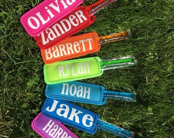 Popsicle holder party favor Best End of year kids gift, toddler, Popsicle, treat, yogurt, Freeze Pop Holder sleeve coolie customized,