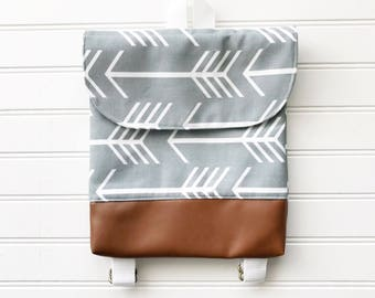 Grey Arrow Tiny Pack - Small Backpack - Toddler Backpack - Tiny Backpack - Toddler Bag - Backpack - Toddler Purse - Kid Backpack