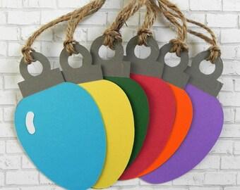 Christmas Bulb Gift Tags, Gift Tags, Christmas Tags