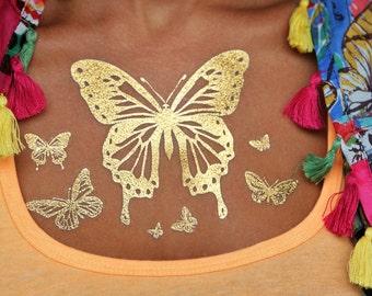 Metallic Tattoos, Temporaray Tattoos, Tattoo Body Art, Metallic Tattoo Body Art, Temporary Metallic Tattoos, Fake Gold Tattoos, ShimmerTatts