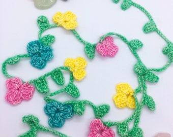 Crochet flower headband, hair decoration, festival style