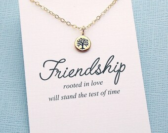 Friendship Necklace | Family Tree of Life Necklace, Friendship Gift, Best Friend Gift, Best Friend Necklace, Sister Birthday Gift | F09