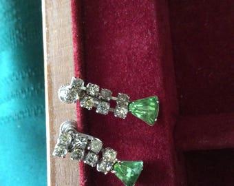 Rhinestone Screwback Earrings