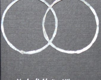Sterling silver hammered hoops