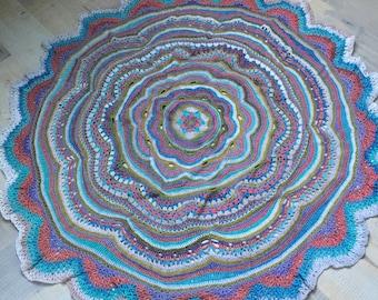 Round blanket of 120 cm diameter